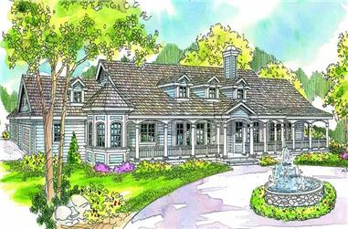 4-Bedroom, 3959 Sq Ft Country House Plan - 108-1673 - Front Exterior
