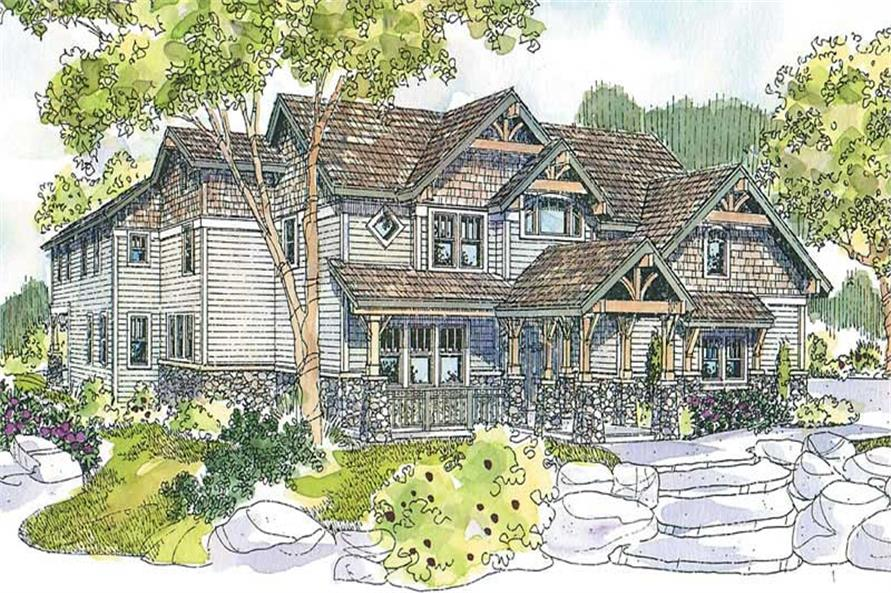 4-Bedroom, 5541 Sq Ft Craftsman House Plan - 108-1674 - Front Exterior