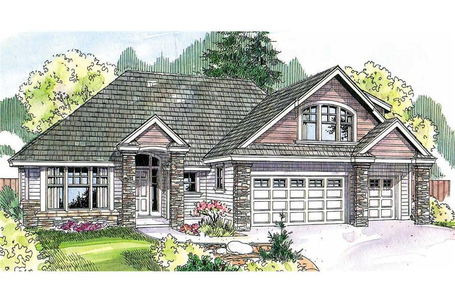 3-Bedroom, 2506 Sq Ft Contemporary House Plan - 108-1684 - Front Exterior