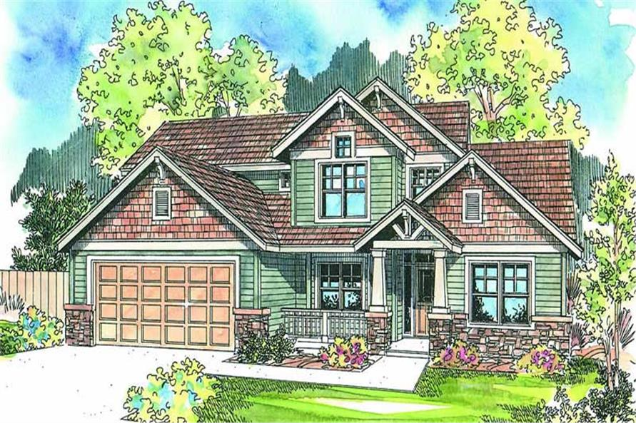 4-Bedroom, 2231 Sq Ft Contemporary Home Plan - 108-1687 - Main Exterior