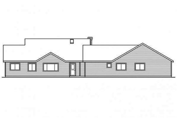 108-1692: Home Plan Rear Elevation