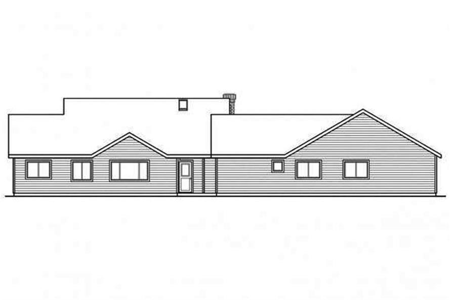Home Plan Rear Elevation of this 5-Bedroom,2473 Sq Ft Plan -108-1692