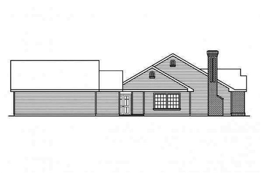 Home Plan Left Elevation of this 5-Bedroom,2473 Sq Ft Plan -108-1692