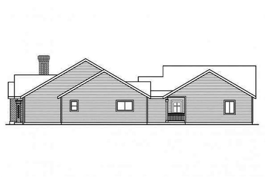 Home Plan Right Elevation of this 5-Bedroom,2473 Sq Ft Plan -108-1692