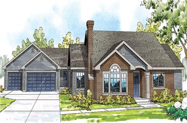 5-Bedroom, 2473 Sq Ft Arts and Crafts Home Plan - 108-1692 - Main Exterior