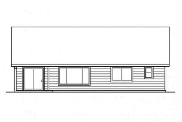 108-1693: Home Plan Rear Elevation