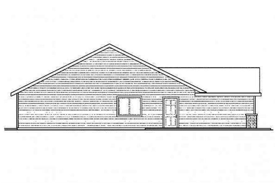 108-1693: Home Plan Left Elevation