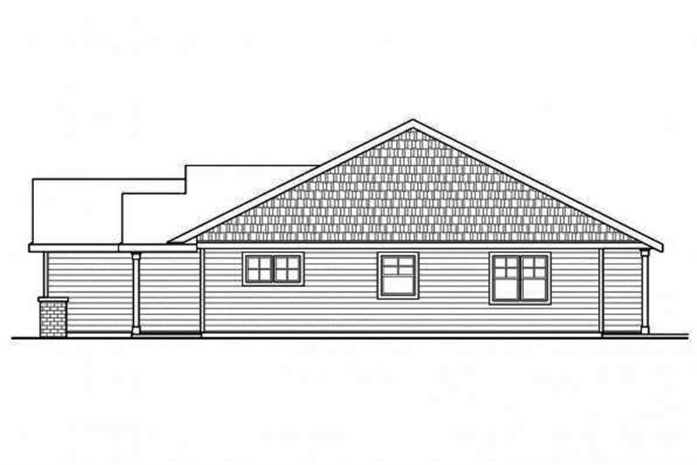 108-1693: Home Plan Right Elevation