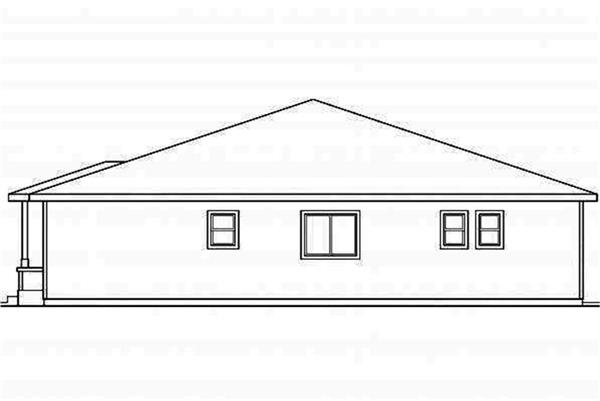 108-1694: Home Plan Right Elevation