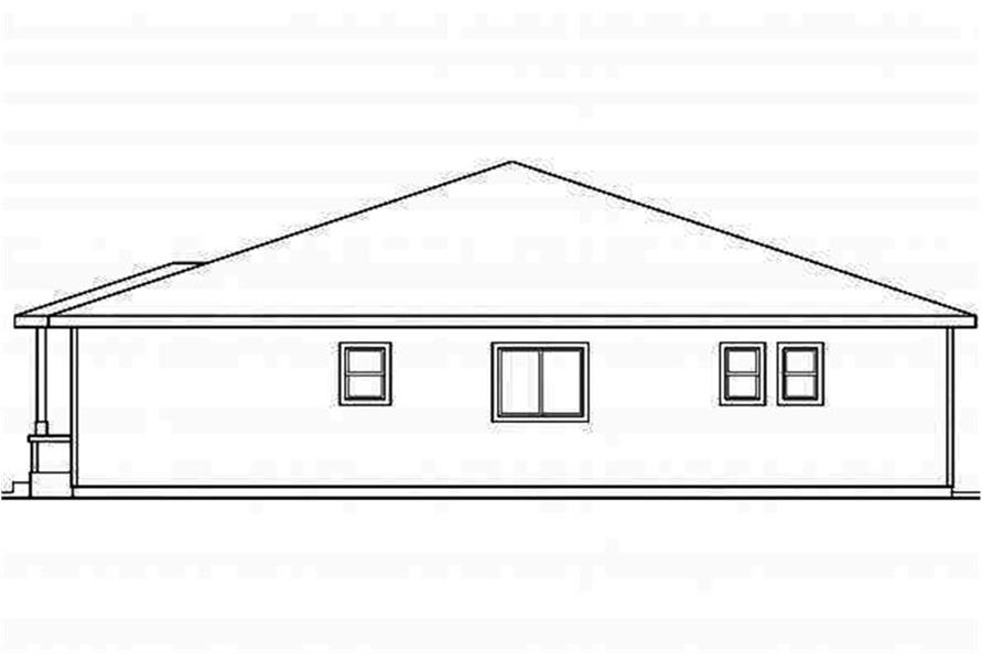 Home Plan Right Elevation of this 3-Bedroom,1808 Sq Ft Plan -108-1694