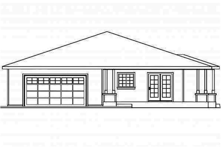 Home Plan Left Elevation of this 3-Bedroom,1808 Sq Ft Plan -108-1694