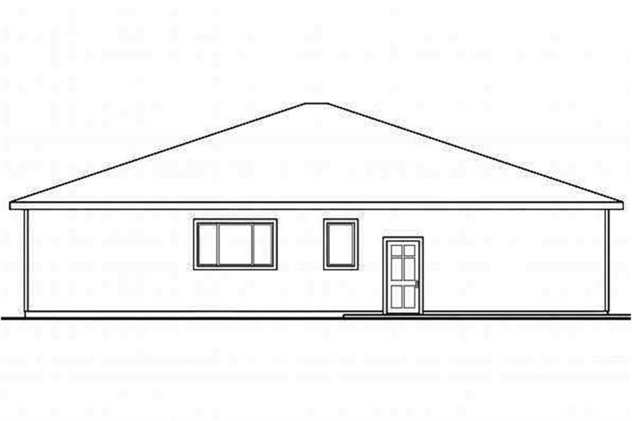 Home Plan Rear Elevation of this 3-Bedroom,1808 Sq Ft Plan -108-1694