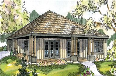 3-Bedroom, 1808 Sq Ft Country Home Plan - 108-1694 - Main Exterior