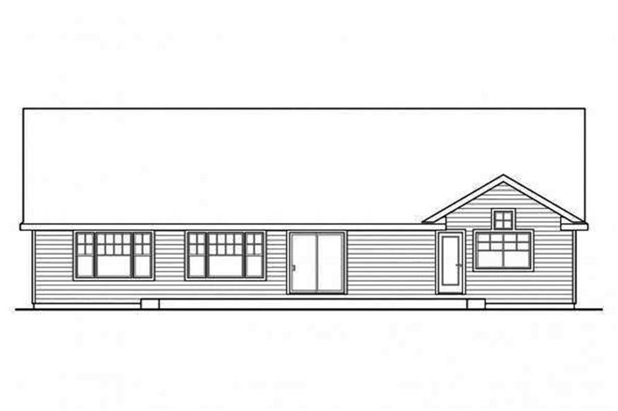Home Plan Rear Elevation of this 3-Bedroom,1884 Sq Ft Plan -108-1695