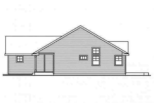 108-1695: Home Plan Right Elevation