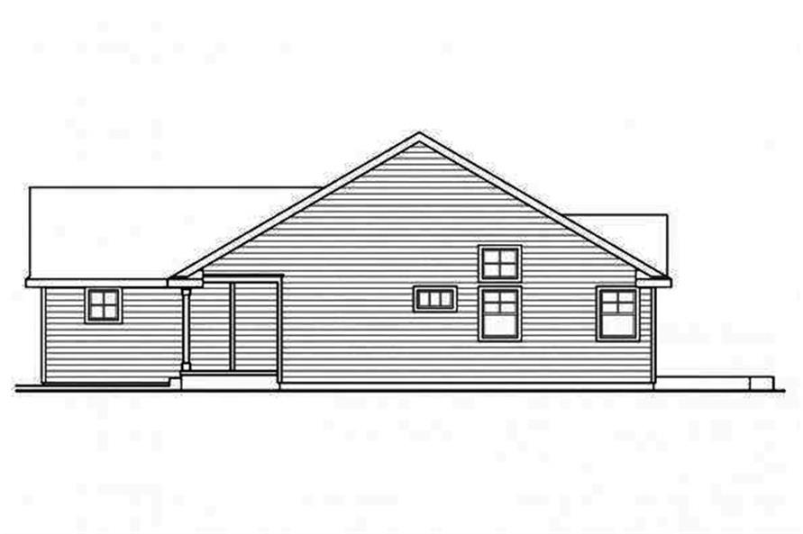 Home Plan Right Elevation of this 3-Bedroom,1884 Sq Ft Plan -108-1695