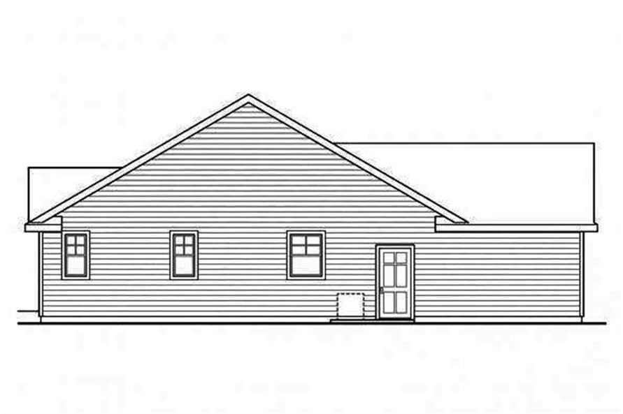 Home Plan Left Elevation of this 3-Bedroom,1884 Sq Ft Plan -108-1695