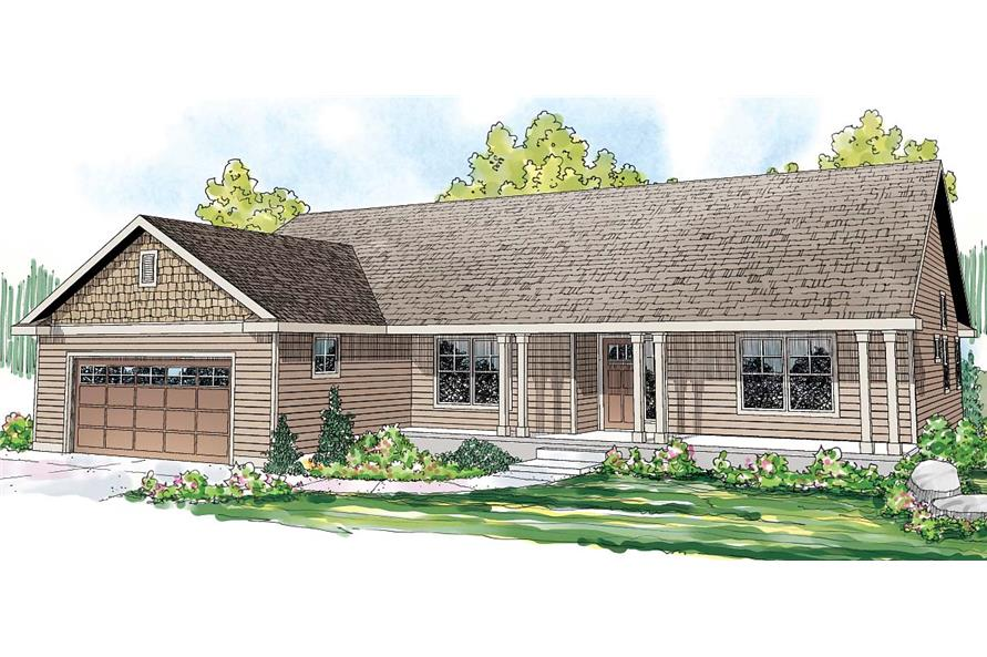 3-Bedroom, 1884 Sq Ft Country Home Plan - 108-1695 - Main Exterior