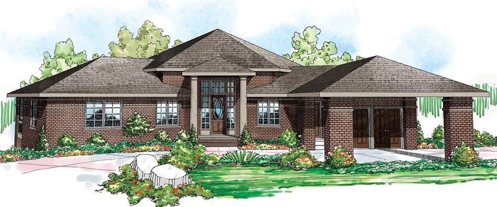 Ranch home (ThePlanCollection: Plan #108-1696)