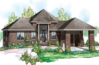 5-Bedroom, 3476 Sq Ft Ranch Home - Plan #108-1696 - Main Exterior