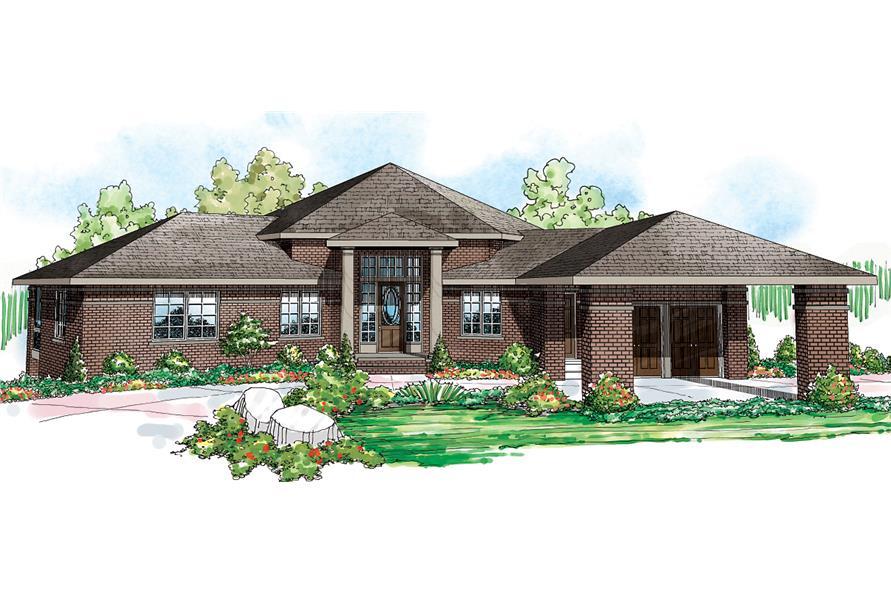 5-Bedroom, 3476 Sq Ft Ranch Home - Plan #108-1696 - Main Exterior