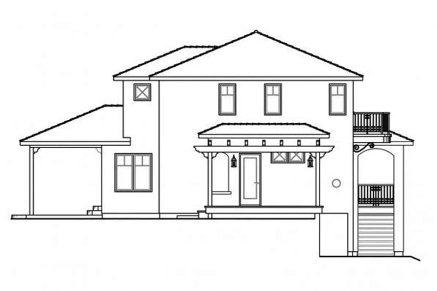 108-1698: Home Plan Left Elevation