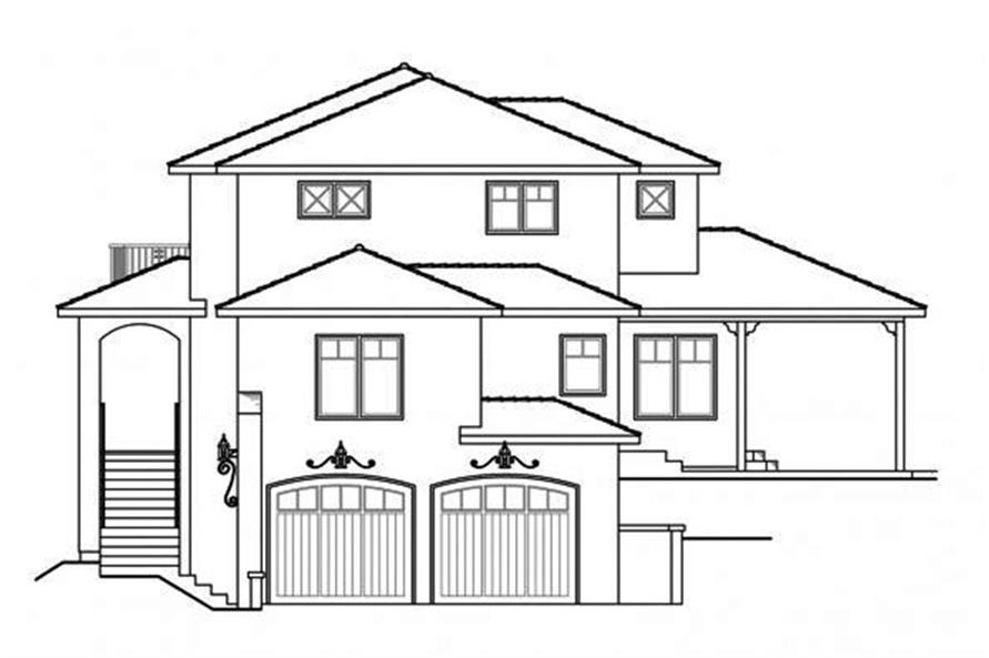 Home Plan Right Elevation of this 3-Bedroom,2429 Sq Ft Plan -108-1698