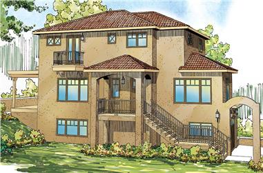 3-Bedroom, 2429 Sq Ft Southwest House Plan - 108-1698 - Front Exterior