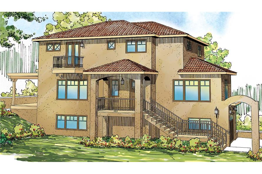 3-Bedroom, 2429 Sq Ft Southwest House Plan - 108-1698 - Front Exterior