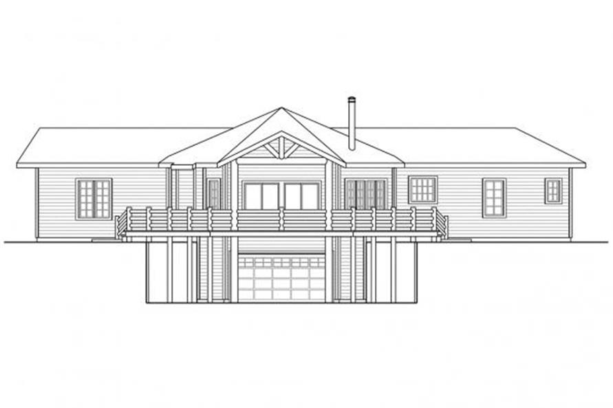 108-1699: Home Plan Rear Elevation