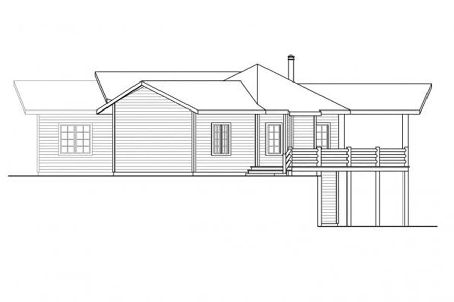 108-1699: Home Plan Right Elevation