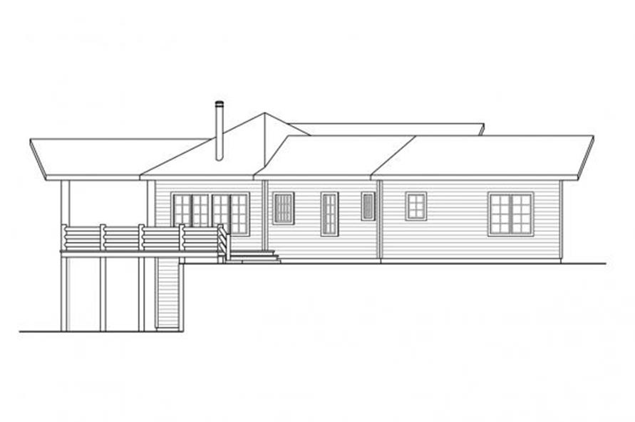 108-1699: Home Plan Left Elevation