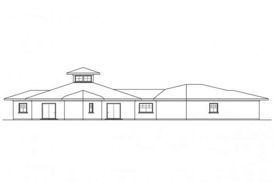108-1704: Home Plan Left Elevation