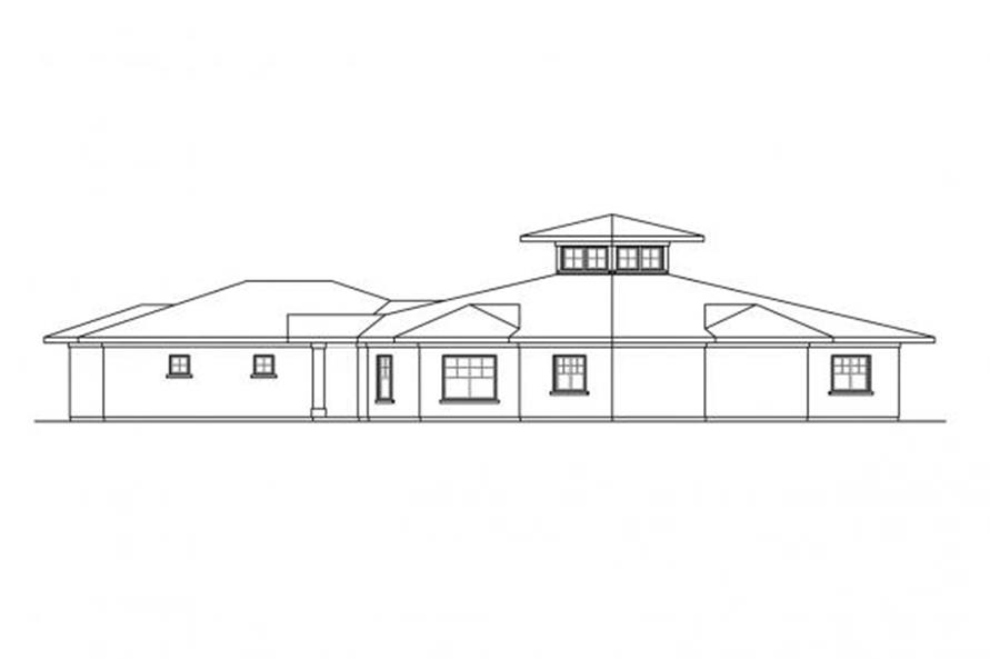 108-1704: Home Plan Right Elevation