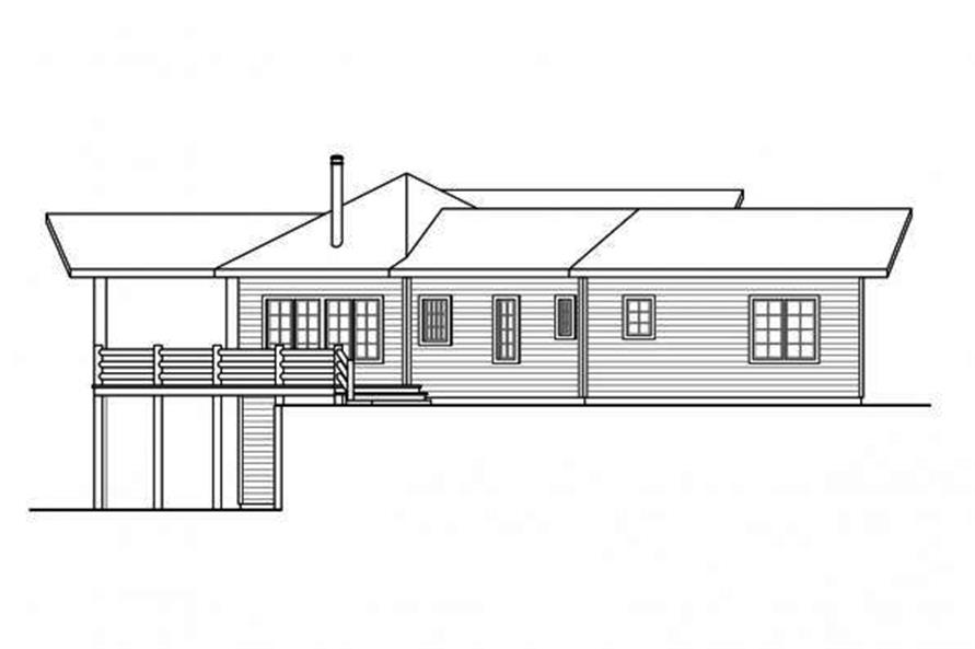 108-1706: Home Plan Left Elevation