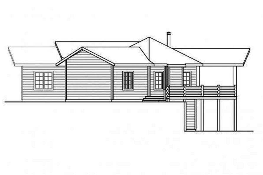 108-1706: Home Plan Right Elevation