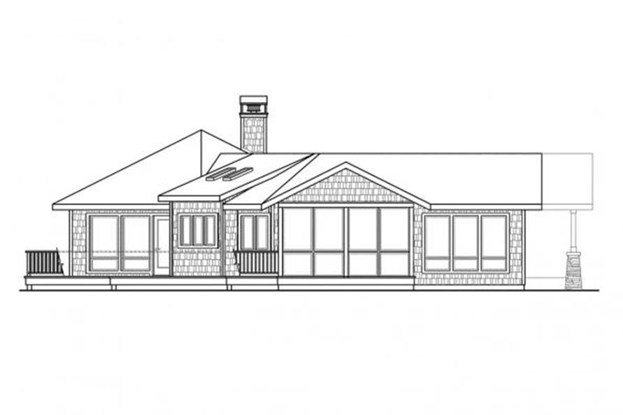 108-1707: Home Plan Left Elevation