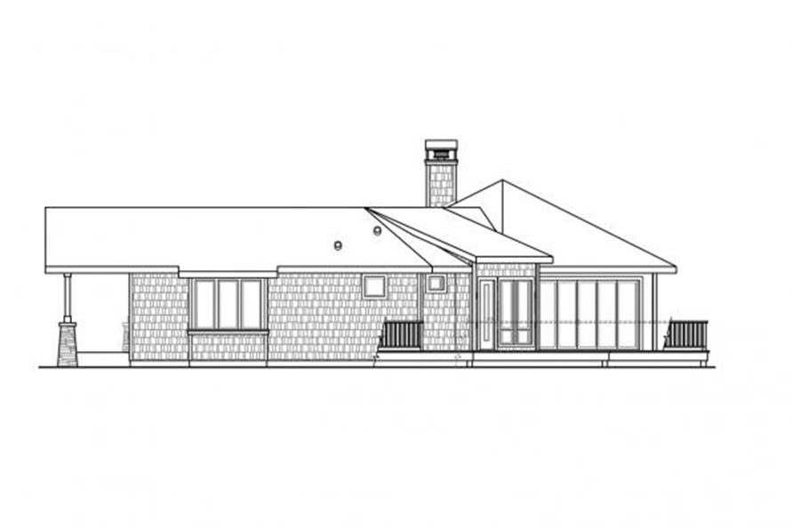 108-1707: Home Plan Right Elevation
