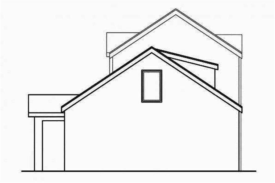 108-1708: Home Plan Rear Elevation