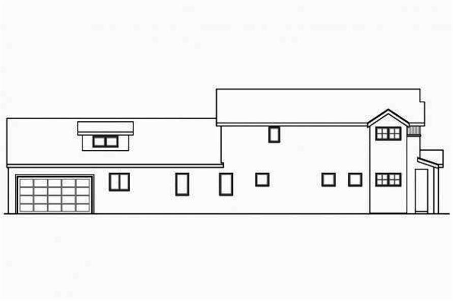 108-1708: Home Plan Left Elevation