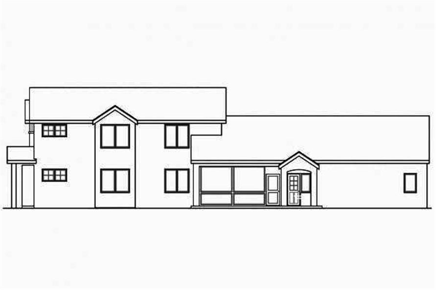 108-1708: Home Plan Right Elevation