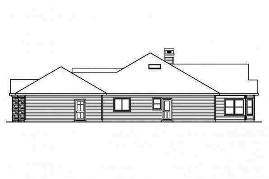 108-1710: Home Plan Right Elevation
