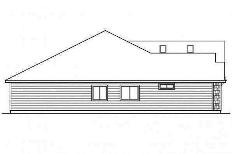 108-1715: Home Plan Left Elevation