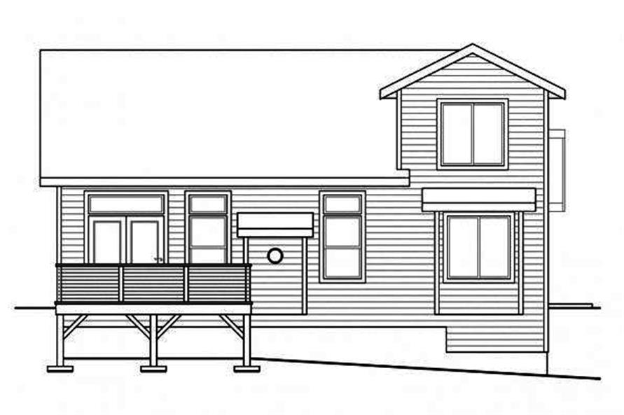 108-1716: Home Plan Rear Elevation