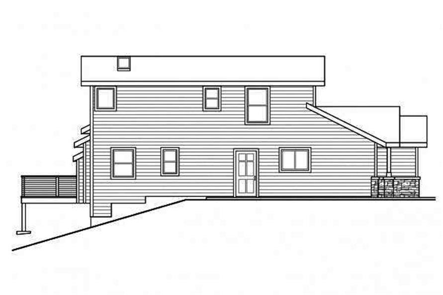 108-1716: Home Plan Left Elevation