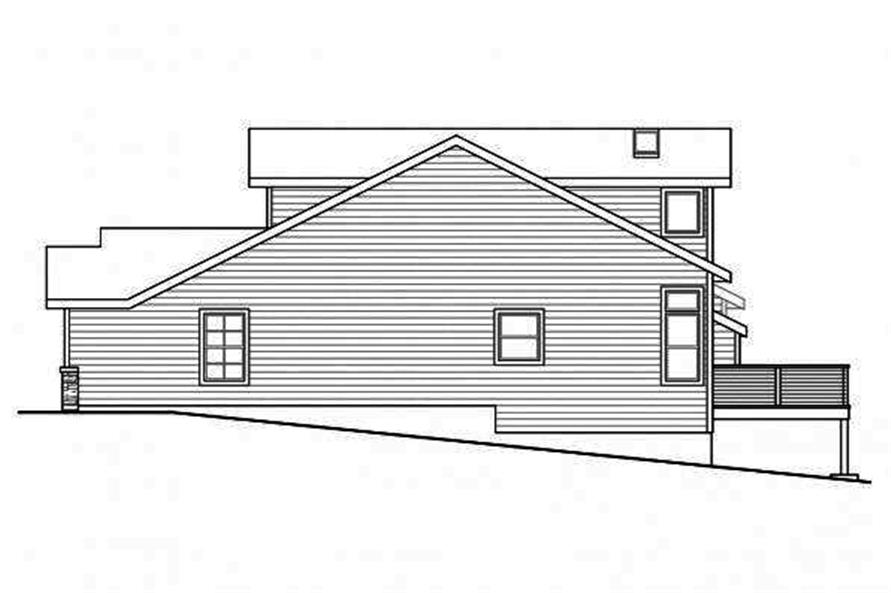 108-1716: Home Plan Right Elevation