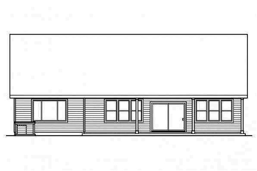Home Plan Rear Elevation of this 3-Bedroom,2319 Sq Ft Plan -108-1717