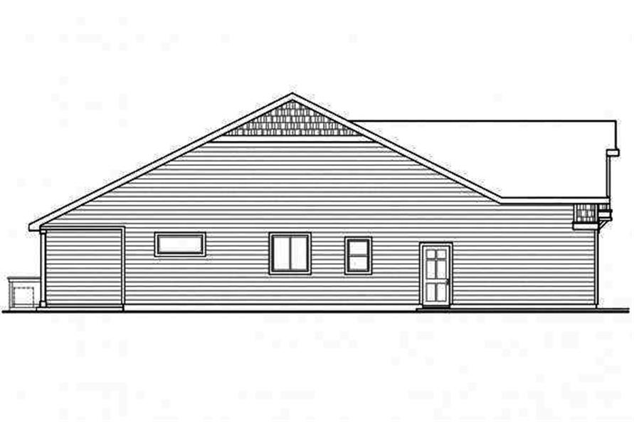Home Plan Left Elevation of this 3-Bedroom,2319 Sq Ft Plan -108-1717