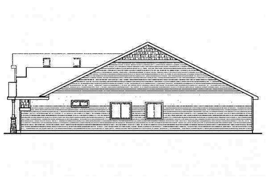 Home Plan Right Elevation of this 3-Bedroom,2319 Sq Ft Plan -108-1717