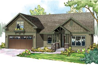 3-Bedroom, 2319 Sq Ft Craftsman Home Plan - 108-1717 - Main Exterior